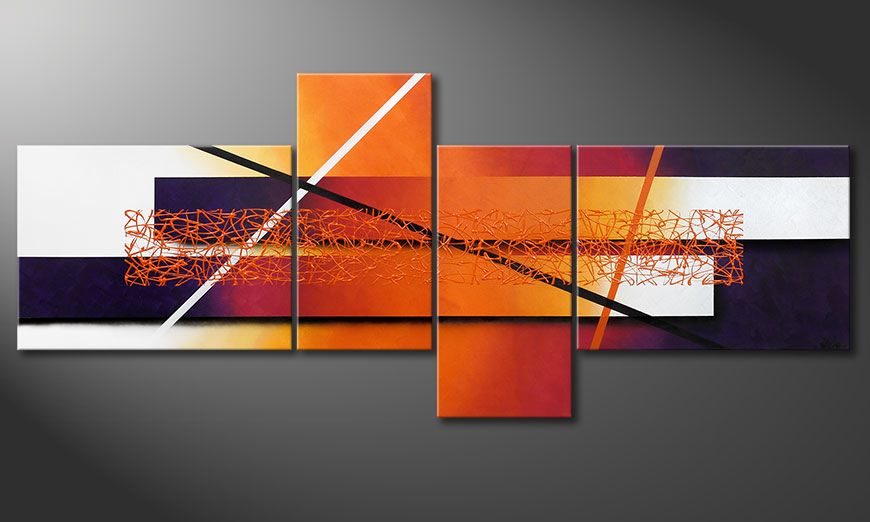 Canvas Afterglowing Memories 240x100x2cm
