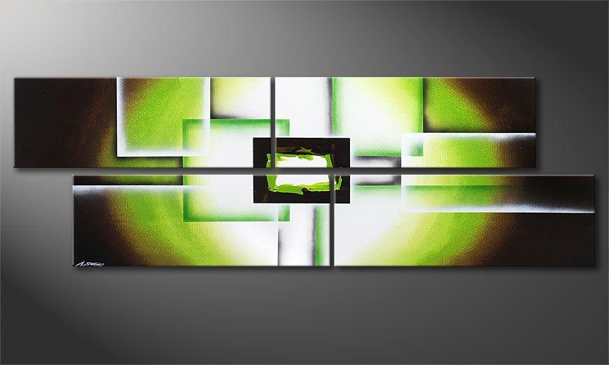 Das XXL-Schilderij Green Spirit 245x80x2cm