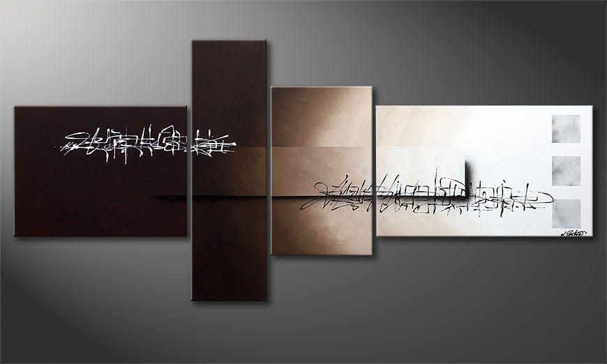 De XXL-schilderij Between Night & Day 220x100x2cm