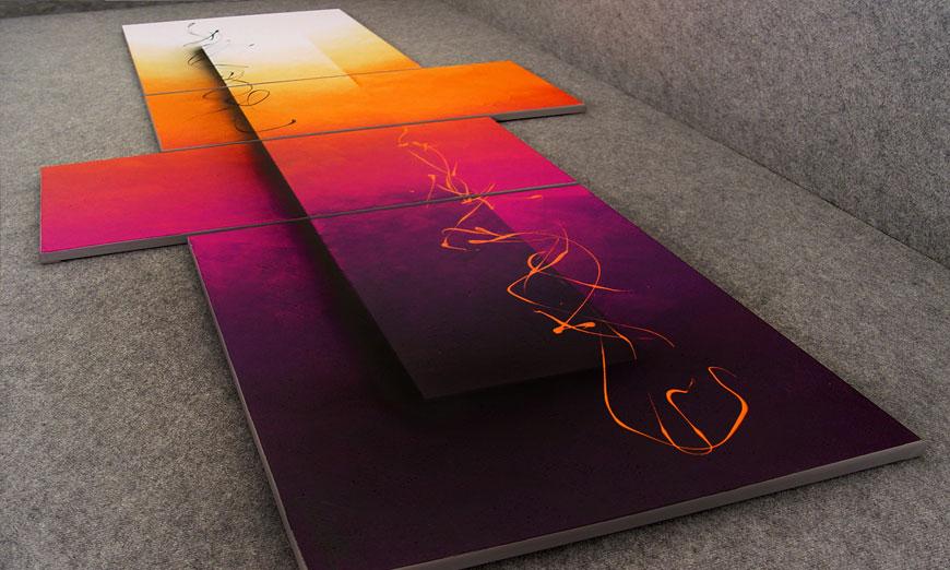 De XXL-schilderij Day and Night 240x100x2cm