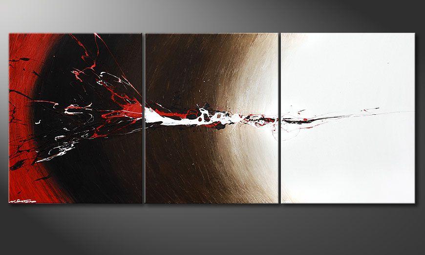De XXL-schilderij Erupted Contrast 210x90x2cm