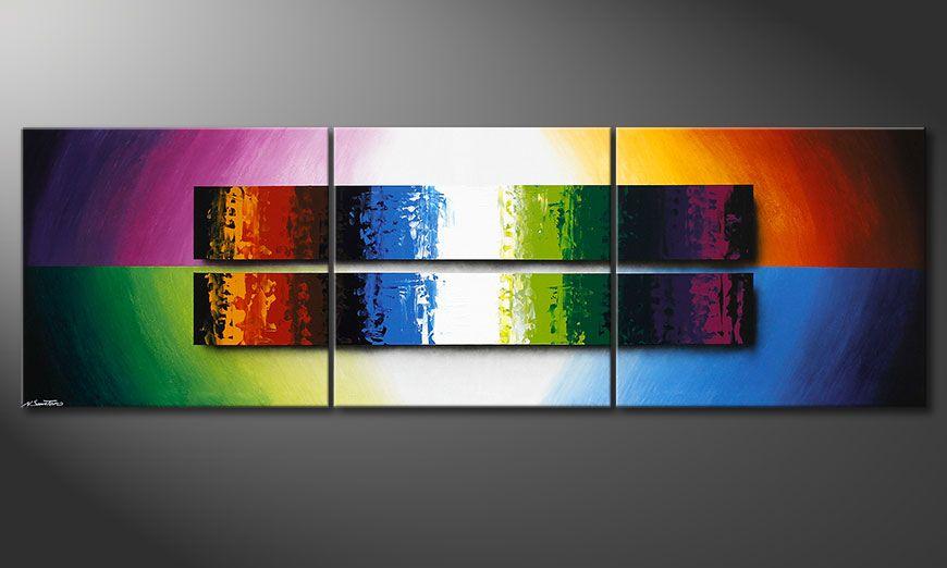 De XXL-schilderij Expression of Colours 260x80x2cm