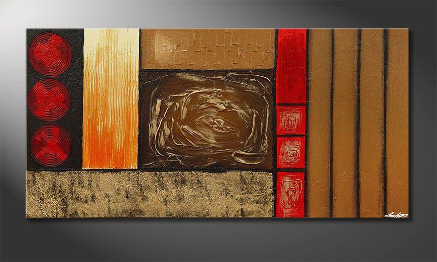 De XXL-schilderij Stoned Roses 140x70x2cm