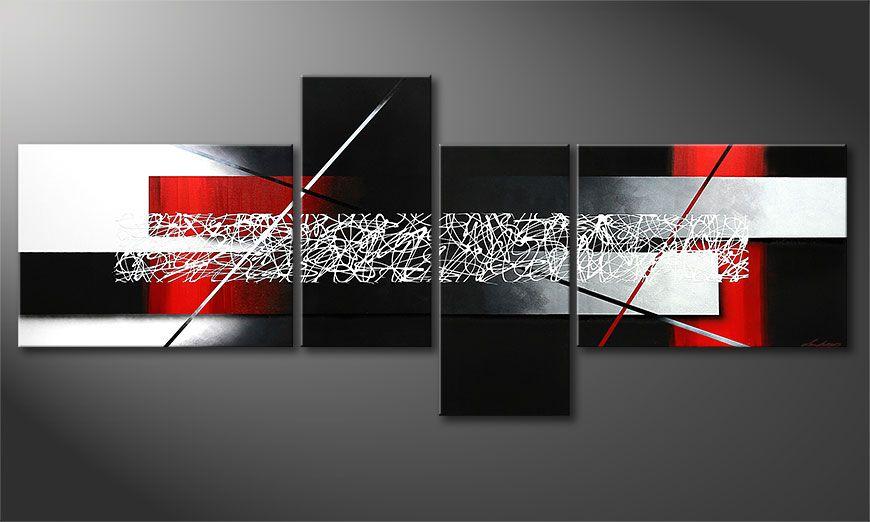 De XXL-schilderij Sudden Inspiration 240x100x2cm