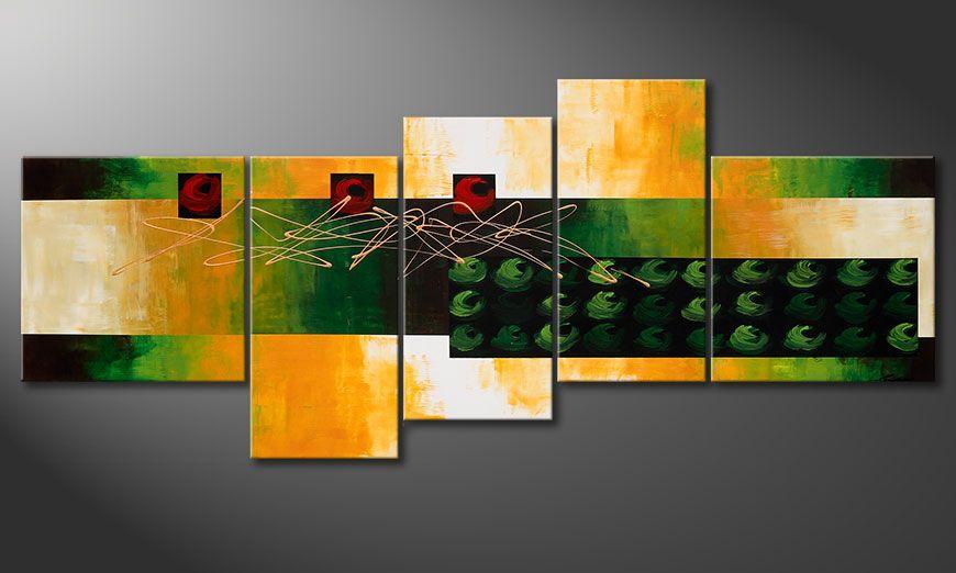 De grote schilderij Quiet Love 240x100x2cm
