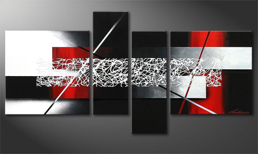 De kleine canvas Sudden Inspiration 130x65x2cm
