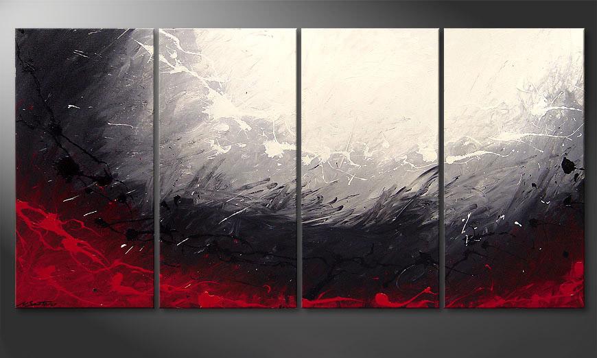 De moderne schilderij Aboil Iron 160x80x2cm