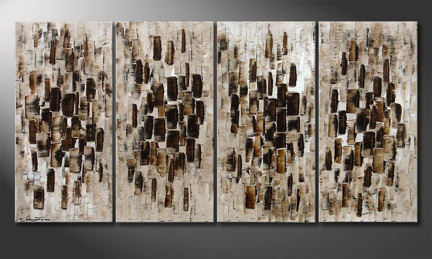 De moderne schilderij Broken Lights 160x80x2cm