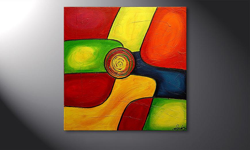 De moderne schilderij Colors 80x80x2cm