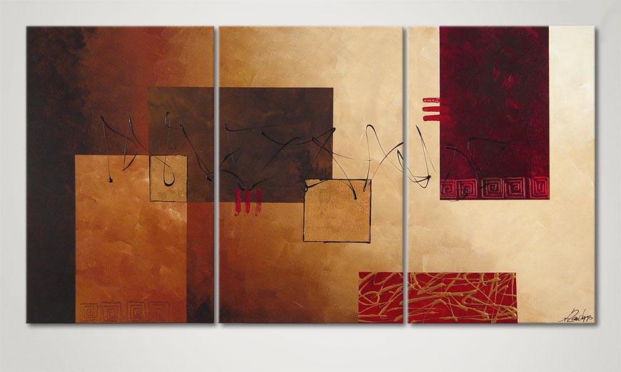 De moderne schilderij Lost Message 150x80x2cm