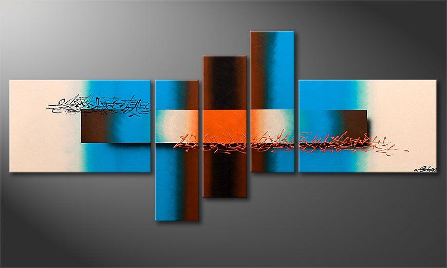 De moderne schilderij Summer Spirit 180x80x2cm