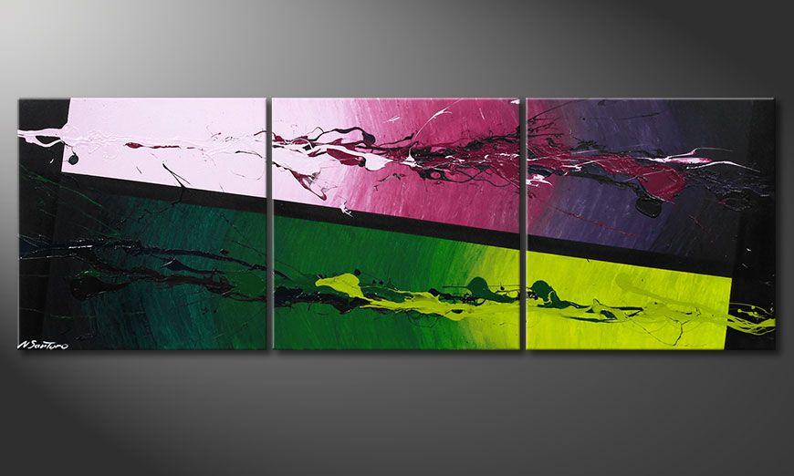De moderne schilderkunst Tropic Splash 150x50x2cm