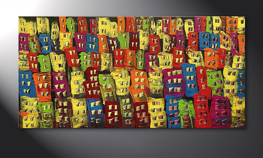 De schilderij Beauty of a City 120x60x2cm