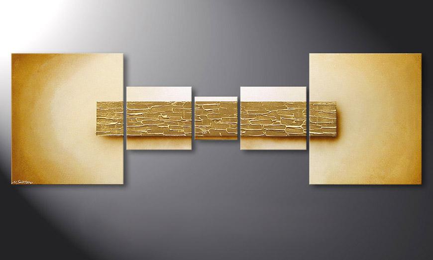 De schilderij Broken Gold 180x60x2cm