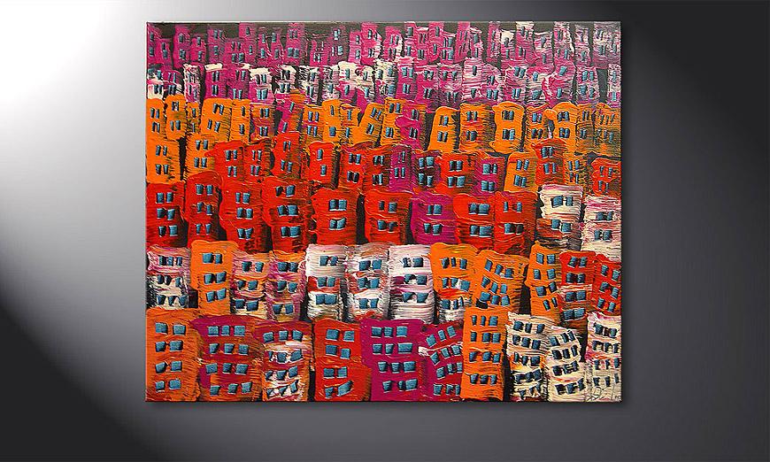 De schilderij Carnival 100x80x2cm