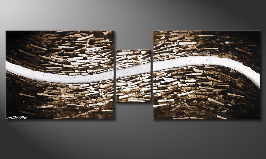 De schilderij Clear River 140x50x2cm
