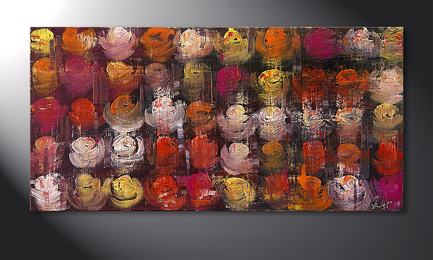 De schilderij Colored Roses 120x60x2cm