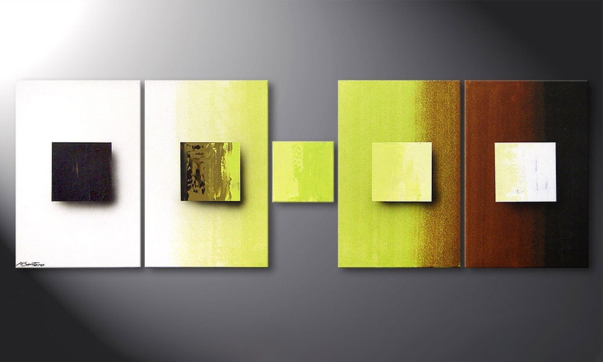 De schilderij Concrete Jungle 180x60x2cm