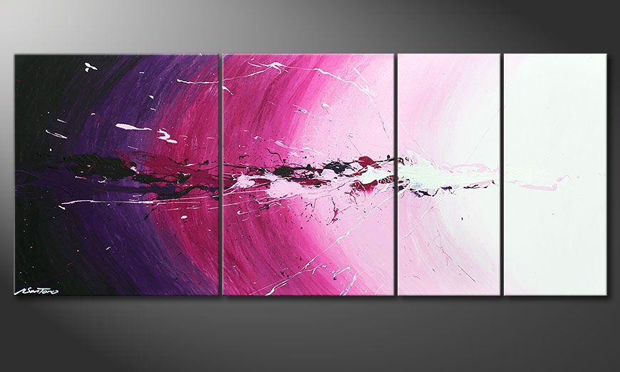 De schilderij Cosmic Splash 170x70x2cm