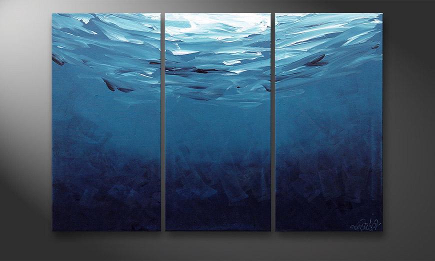 De schilderij Deep Blue 120x80x2cm