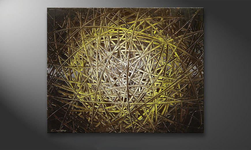 De schilderij Deep Jungle 100x80x2cm