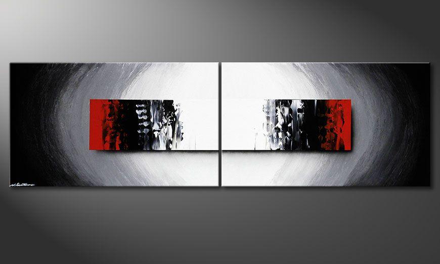 De schilderij Deep Space 200x60x2cm