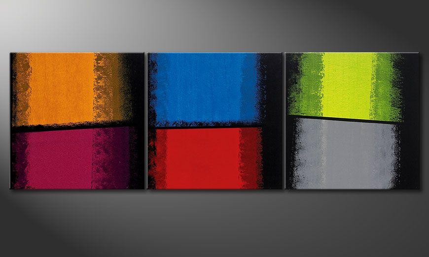 De schilderij Departed Colors 210x70x2cm