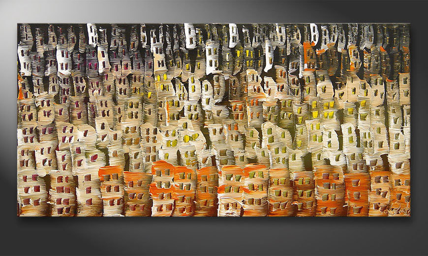De schilderij Desert City 120x60x2cm