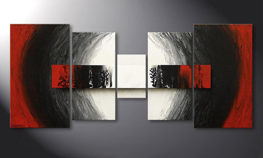 De schilderij End of Extremes 160x70x2cm
