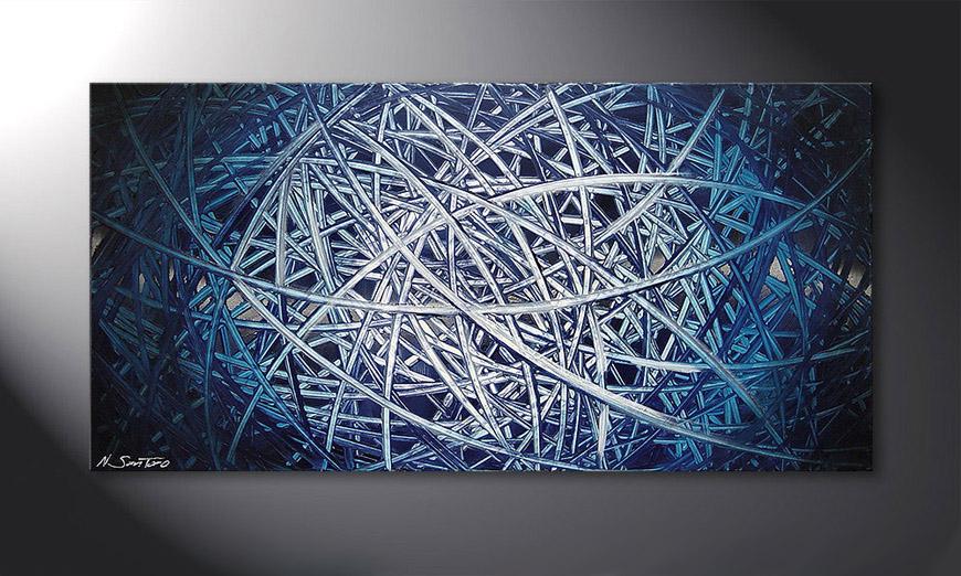 De schilderij Energy of Water 120x60x2cm