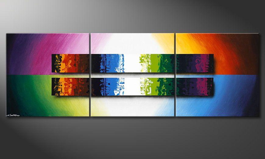 De schilderij Expression of Colours 210x70x2cm