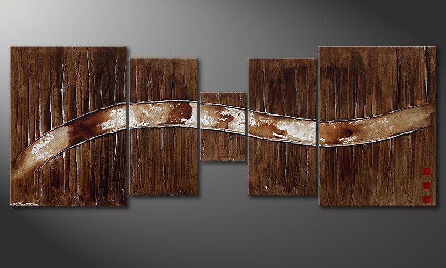 De schilderij Frozen Moments 180x70x2cm