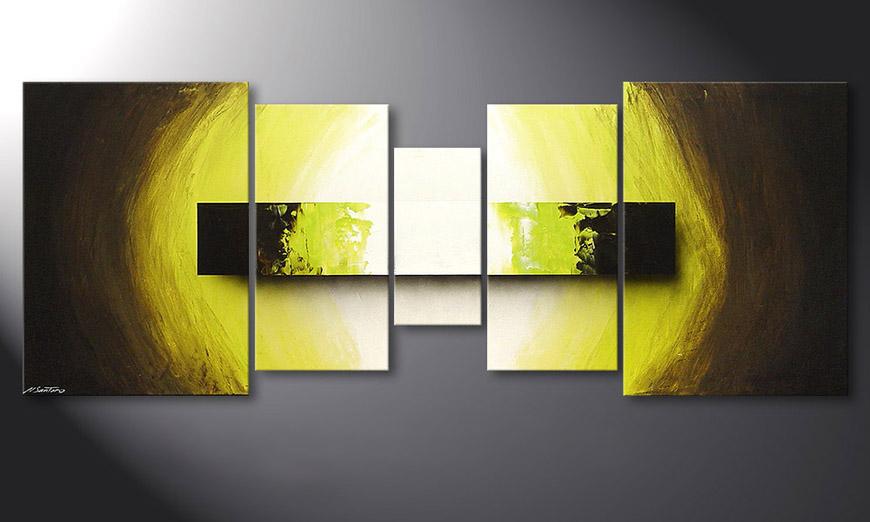De schilderij Green Vision 180x70x2cm