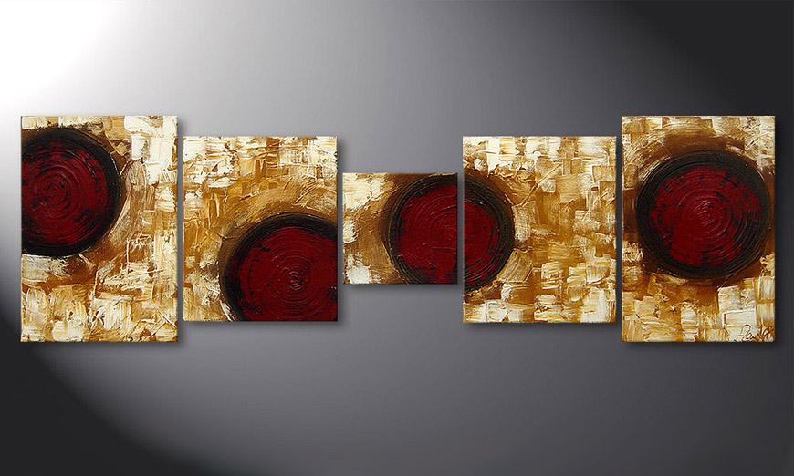 De schilderij Hot Spots 190x60x2cm