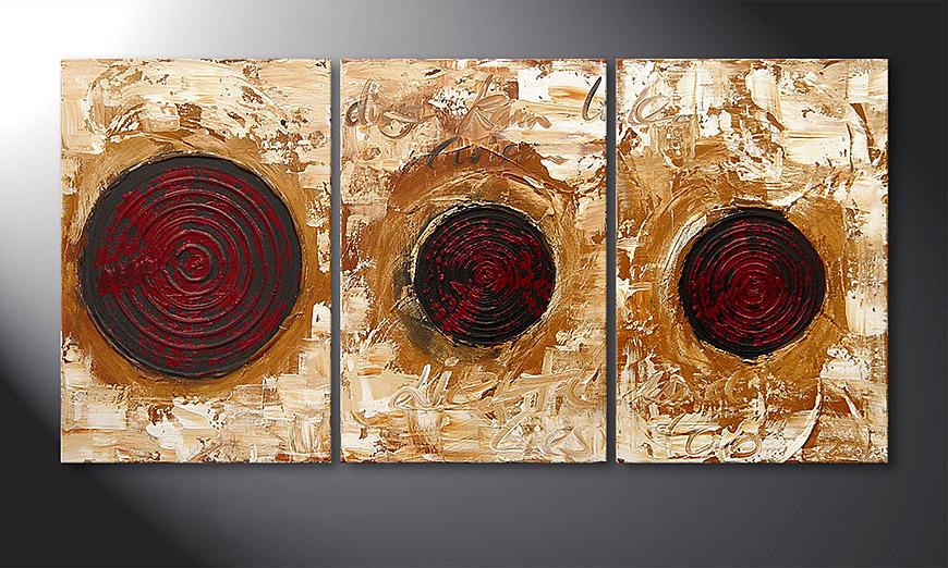 De schilderij Impulses 120x60x2cm