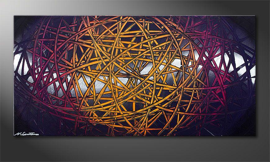 De schilderij Indian Moonlight 120x60x2cm