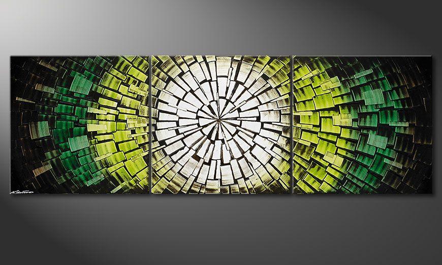 De schilderij Light of Hope 210x70x2cm