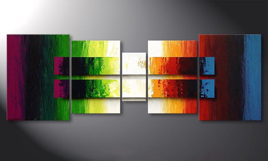 De schilderij Liquid Colours 200x70x2cm