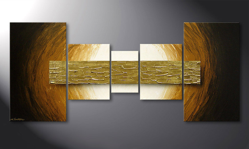 De schilderij Natural Gold 160x70x2cm