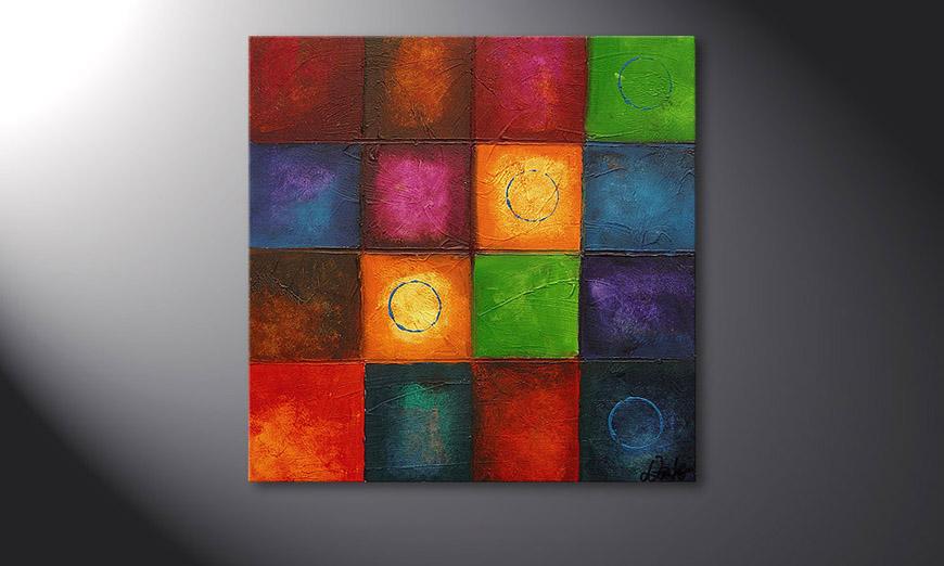 De schilderij Pot-Pourri 70x70x2cm