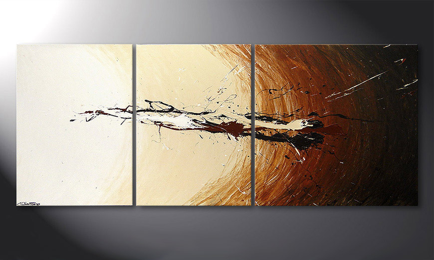 De schilderij Power of Earth 170x70x2cm