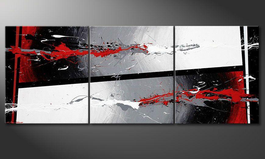 De schilderij Powerful Contrast 180x70x2cm