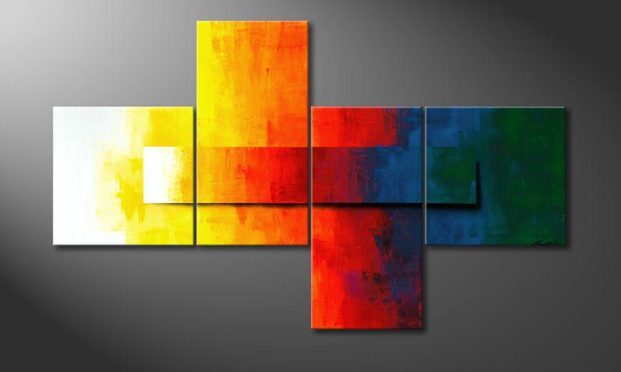 De schilderij Rainbow Colors 180x110x2cm