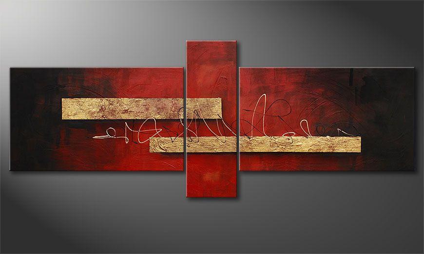 De schilderij Sense of Delight 230x90x2cm