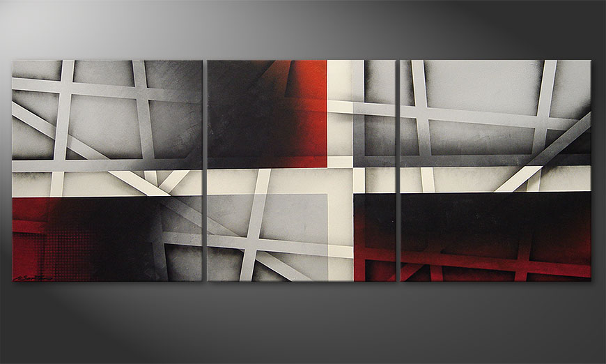 De schilderij Sizzling Emotions 180x70x2cm