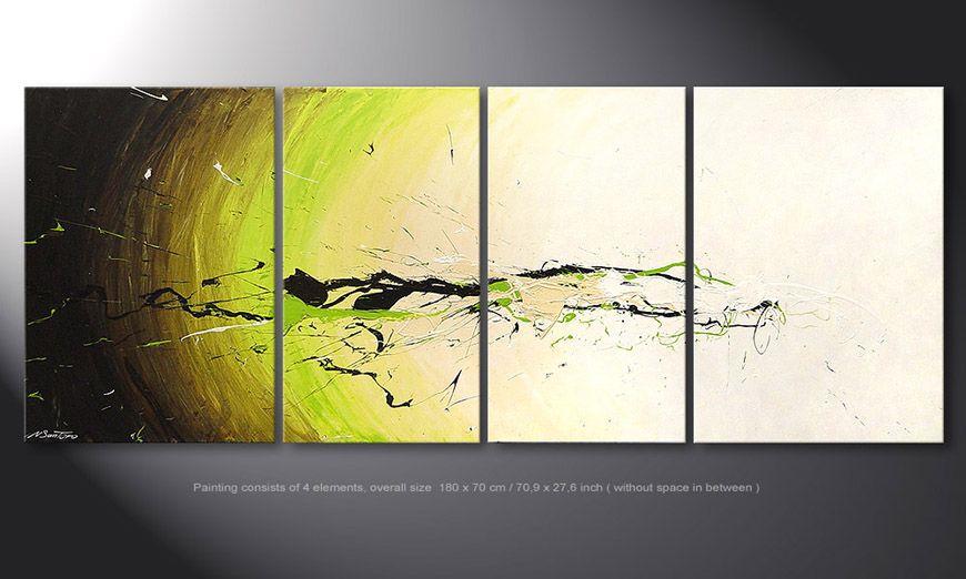 De schilderij Spirit of Nature 180x70x2cm
