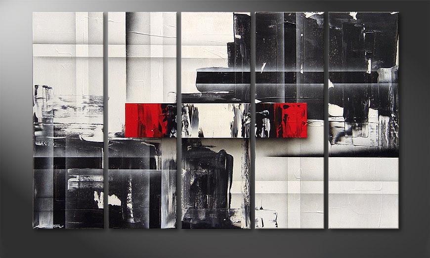 De schilderij Split Mirror 150x90x2cm