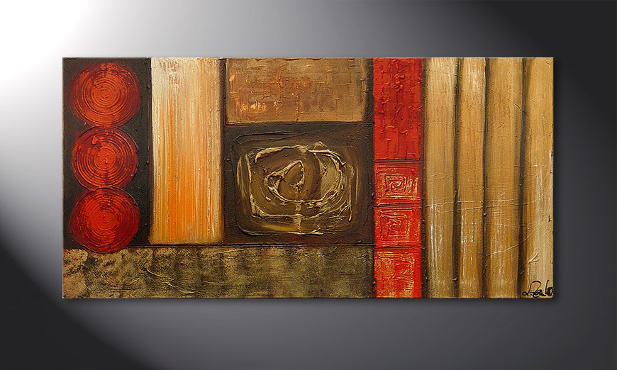 De schilderij Stoned Roses 120x60x2cm