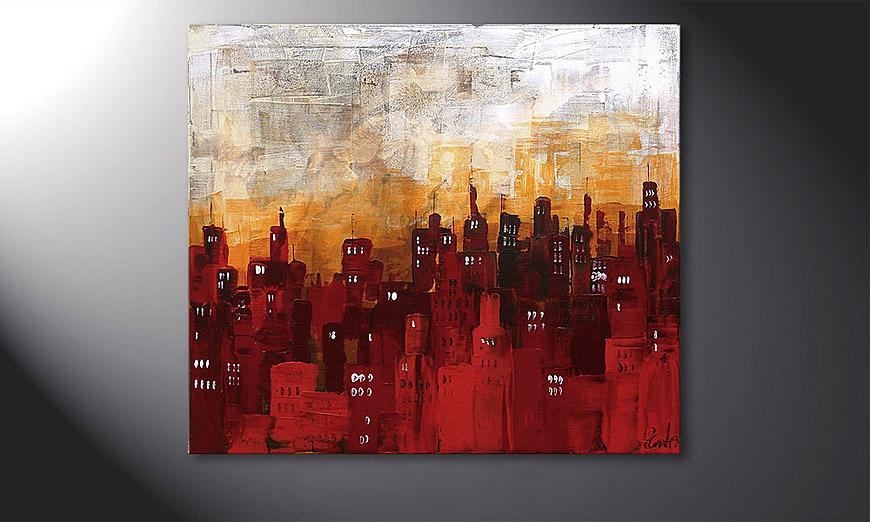 De schilderij Stormy Night 70x80x2cm