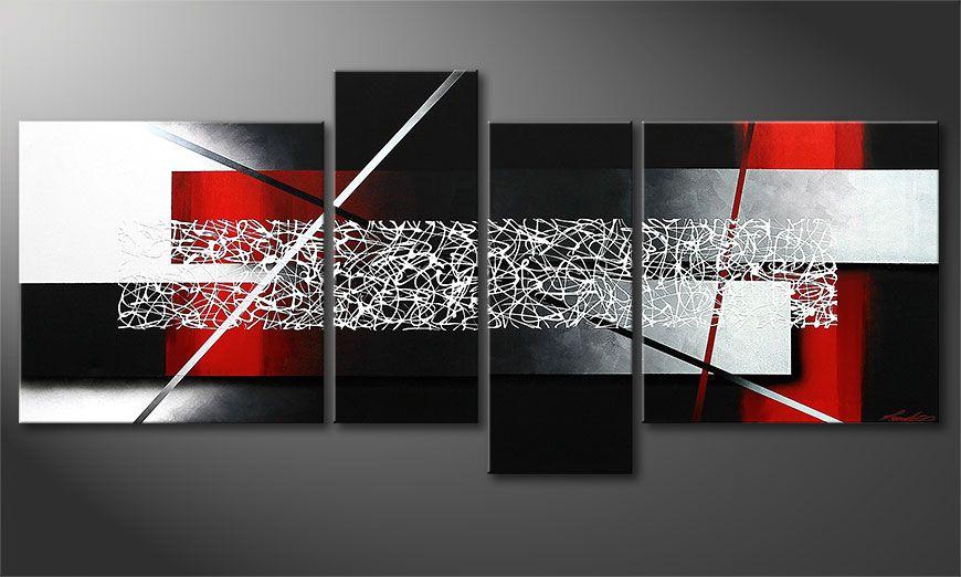 De schilderij Sudden Inspiration 180x80x2cm